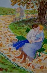 <p>les amoureux (Brassens) 20x30 cm disponible </p>