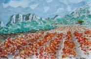 <p>Vignes des Alpilles. 30x20cm </p>