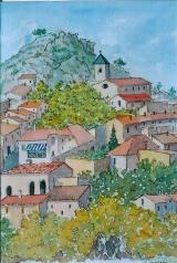 <p>Les Baux. haut du village. 20x30cm </p>