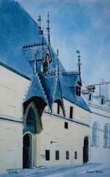 <p>Beaune . Hôtel Dieu 25x40cm.  vendu  </p>