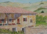 <p>Beaujolais. maison vigneronne.  30x20cm   vendu </p>