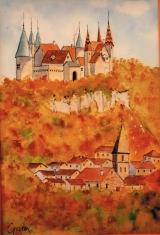 <p>Bourgogne. la Rochepot. 20x30cm disponible </p>