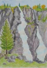 <p>Cascades.  Nardi. Italie 35x50cm. disponible  </p>