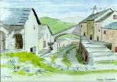 <p>Cévennes. hameau.  18x13cm.  disponible  </p>