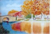 <p>Canal du Midi. le Somail. 30x20cm </p>