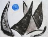 """<p>""""Bleu comme une orange"""" 50x65cm </p>"""