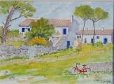 <p>Maisons d' Oléron 18x13cm </p>