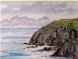 <p>Pointe du Meinga (Bretagne) 46x27cm disponible </p>