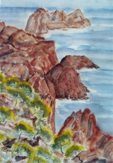 <p>Agay: les rochers. 36x51cm.  disponible  </p>