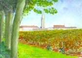 <p>St Emilion (du clos Fourtet). 30x20cm </p>