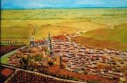 <p>St Emilion. Vue générale. 30x20cm disponible </p>