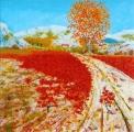 <p>automne en Provence. 80x80 cm  </p>
