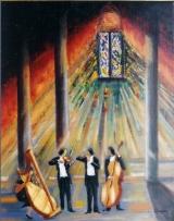 <p>concert à la cathédrale. 73x92cm </p>