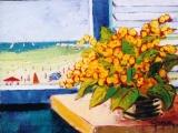 <p>fenêtre s.la plage. 35x27cm </p>