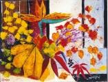<p>feuillage automne. 35x27 cm  </p>