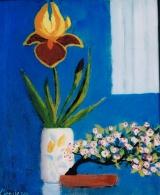 <p>iris et bonzaï. 22x27cm </p>
