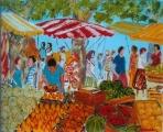 <p>marché aux fruits. 27x22cm </p>
