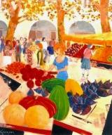 <p>marché de Provence. 54x65cm   </p>