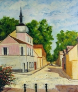 <p>Margency. ancienne mairie. 54x65cm disponible  </p>