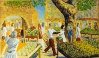 <p>marché de Provence. 92x55cm </p>