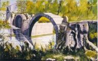 <p>pont roman. Juvignac. 55x33cm </p>