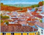 <p>St Emilion. les toits 65x54cm </p>