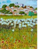<p>Village aux chardons. 46x61cm  </p>