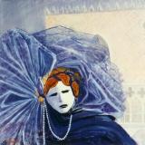<p>Venise. masque. 60x60cm </p>