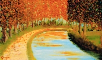 <p>Canal du Midi. 55x33cms. disponible </p>