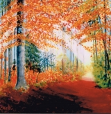 <p>hêtraie automne 60x60cm  vendu </p>