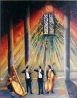<p>Concert à la Cathédrale. 73x92cms. vendu </p>