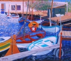 <p>Bouzigues. Barques Catalanes. 65x54 cms disponible </p>