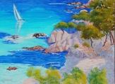 <p>Méditerranée. Costa Brava. 73x54cms </p>