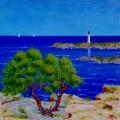 <p>Bleu Méditerranée. 50x50cms </p>