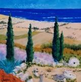 <p>Passé-Présent à Chypre. 40x40cms </p>