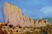 <p>Peyrepertuse (34). le site.   41x33cms disponible </p>