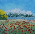 <p>Baux de Provence. printemps. 30x30cms disponible </p>