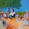 <p>Tambourinaires et Galoubets. 40x40cm. disponible </p>