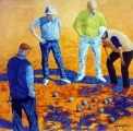 <p>Pétanque. 80x80cm. disponible </p>