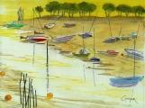 <p>Arcachon. marée basse 30x20cms</p>