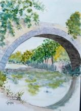 <p>Aix. Pont des 3 Sautets. 20x30cms </p>