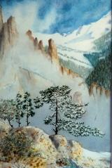 <p>Brume en montagne.20x30cms </p>