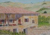 <p>Beaujplais. maison vigneronne. 30x20cms.  vendu </p>