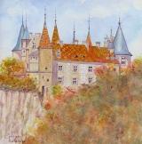 <p>Bourgogne. Château de la Rochepot. 20x20cms.,vendu  </p>