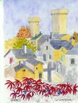<p>la Couvertoirade  (templiers).13x18 dispo </p>