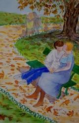 <p>les Amoureux. 20x30cms(Brassens)</p>