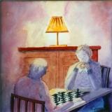 <p>la partie d'échecs. 20x20cms</p>