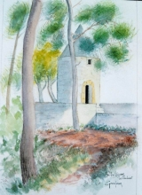 <p>aix. moulin Cézanne 20x30cm. disponible  </p>