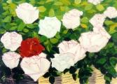 <p>Panier de roses. 46x38cms.   vendu  </p>